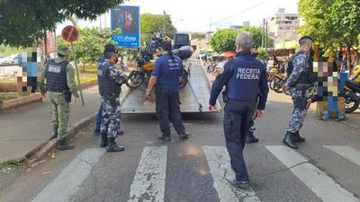 Policía Federal del Brasil refuerza control sobre mototaxistas de CDE