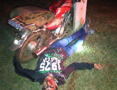 Motociclista sufre heridas graves tras embestir contra columna de hormigón – Diario TNPRESS