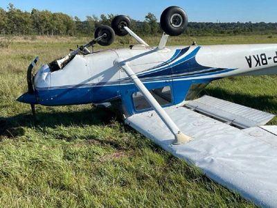 Aeronave capotó en Aeropuerto Silvio Pettirossi pero no hay heridos de gravedad