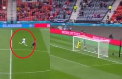 Impresionante: Gol desde la mitad de la cancha en la Eurocopa
