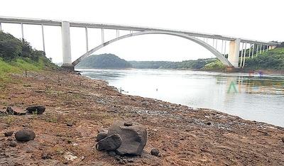 Notable DESCENSO del nivel del río PARANA