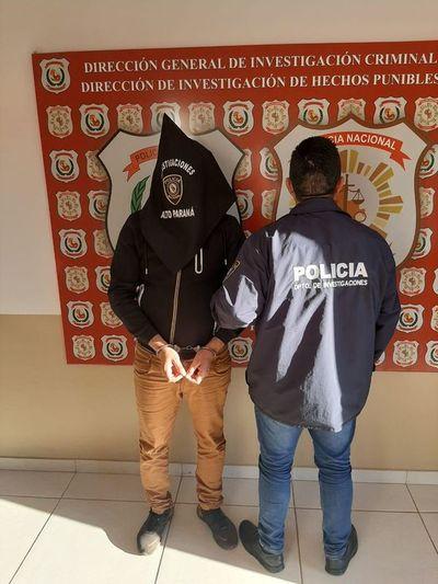 Capturan a presunto miembro de una peligrosa banda criminal