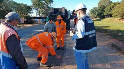 Ruta PY01: iniciarán extendido de la nueva carpeta asfáltica en la zona de Caapucú