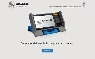 ¡Para ir probando! Así es el simulador de la máquina de votación con precandidatos oficiales