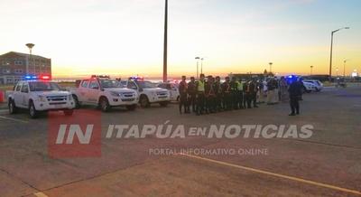 DIRECCIÓN DE POLICÍA ORDENA DESPLIEGUE DE SEGURIDAD EN ITAPÚA.
