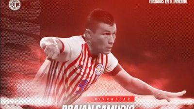 Toluca oficializa la contratación de Braian Samudio
