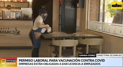 Empleadores deben dar permiso a funcionarios para vacunarse, establece resolución