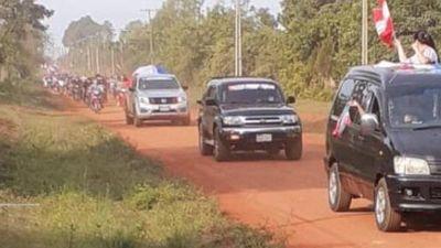 Multitudinaria caravana pro asfaltado en General Delgado