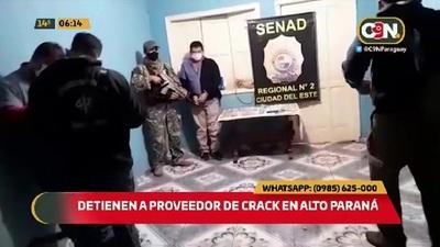 Detienen a proveedor de crack tras operativo Fiscal