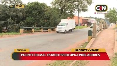 Puente en mal estado preocupa a pobladores de Ypané