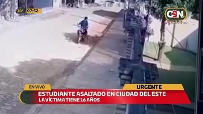 Estudiante fue asaltado a plena luz del día en Ciudad del Este