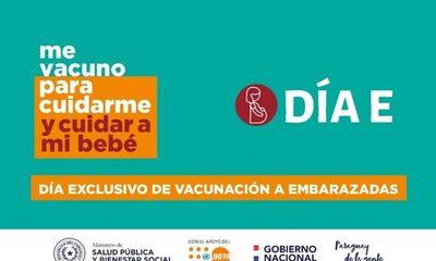 Sábado 19 de junio se vacunará exclusivamente a embarazadas con 20 semanas de gestación en adelante