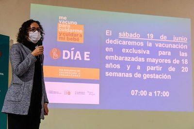 """""""Día E"""" para vacunación anticovid exclusiva a embarazadas será este sábado"""
