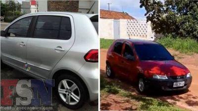 Dos vehículos robados en menos de una hora en la frontera
