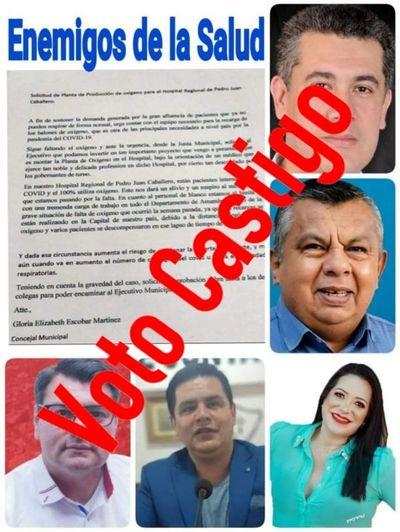 Enemigos de la Salud: Criminal decisión de la Junta municipal con proyecto de planta de oxígeno