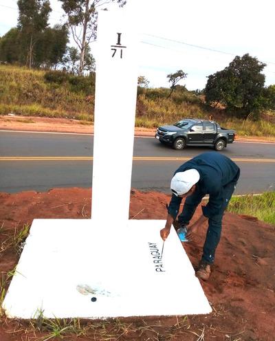 Culminaron trabajos de mantenimiento de hitos en Sector I de la frontera seca