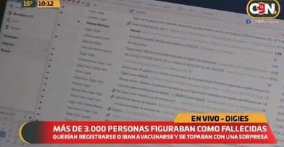 """Más de 3.000 """"fallecidos"""" en sistema del Ministerio de Salud"""