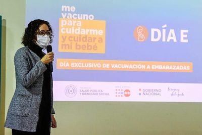 """""""Día E"""": vacunación exclusiva para embarazadas, este sábado 19"""