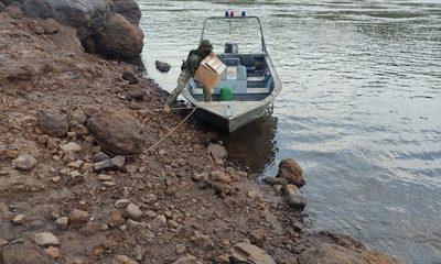 Hallan cocaína al costado del río Paraná