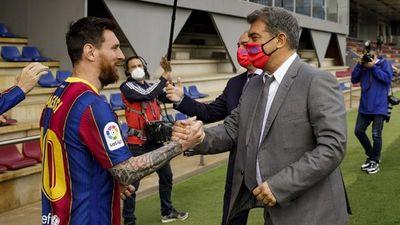 Joan Laporta: La renovación de Messi está en punto avanzado