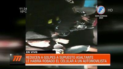 Reducen a golpes al sospechoso de robar un celular en San Lorenzo