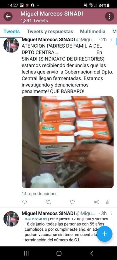 """Denuncian entrega de leche """"fermentada"""" en escuela"""