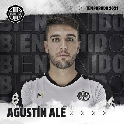 El primer mensaje de Agustín Ale como nuevo jugador de Olimpia