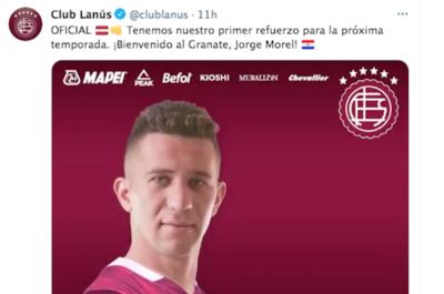 Crónica / Lanús da la bienvenida a Jorge Morel