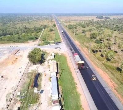 Rehabilitación del tramo Villeta km 40 – Alberdi transita su etapa final con el 90% obras concluidas