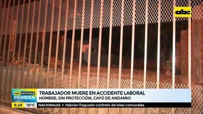 Trabajador muere en accidente laboral