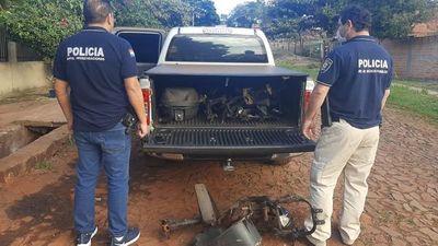 Allanan taller de motos e incautan varias evidencias en CDE