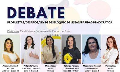 Preparan debate con mujeres precandidatas a la concejalía de CDE