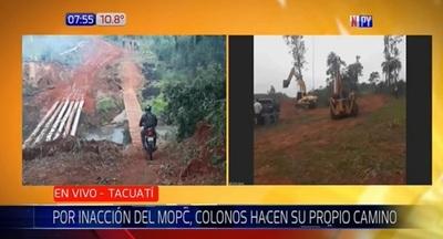 Menonitas construyen paso ante inacción del MOPC