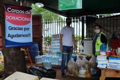 Constructora de las Oficinas del Gobierno dona víveres a distintas instituciones