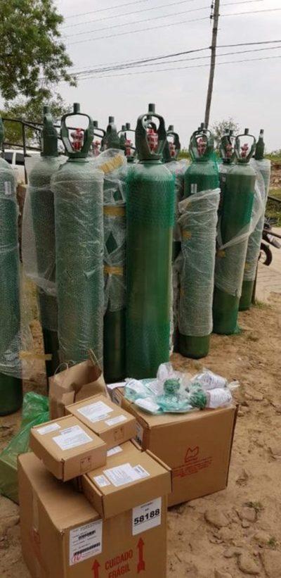 Imputados por varias causas penales donan balones de oxígeno a Hospital de Fuerte Olimpo