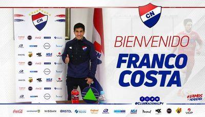 Franco Costa retorna a Nacional y es el primer refuerzo