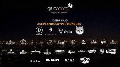 Firmas de entretenimiento anuncian que aceptarán criptomonedas en sus unidades de negocios