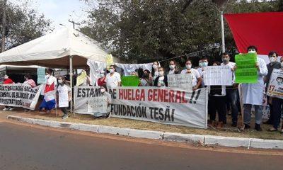 Sindicalistas de Tesãi siguen con medida de fuerza ante ninguneo de Bittinger