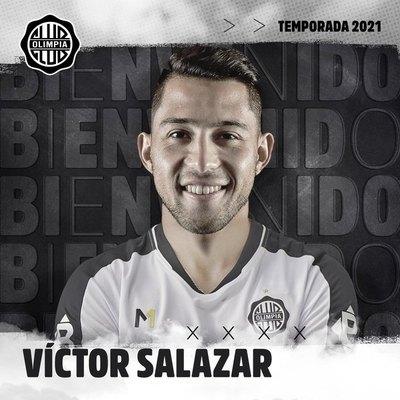 Víctor Ezequiel Salazar, confirmado como refuerzo de Olimpia