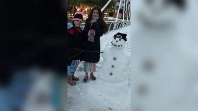 """""""Armamos muñecos de nieve, fue increíble"""", cuentan paraguayos en Córdoba"""