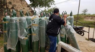 Imputados donan 24 balones de oxígeno al Hospital de Fuerte Olimpo