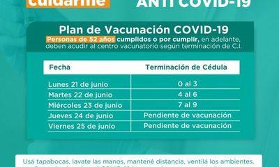 Desde el lunes se vacunan nacidos en 1969