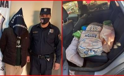 Imputan a detenido con más de 100 kilos de marihuana tras persecución