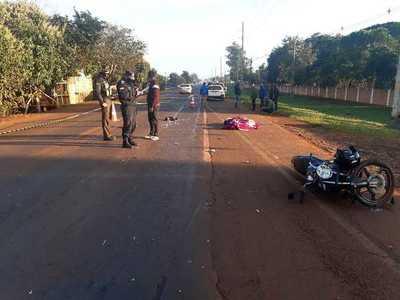 Motociclista muere en accidente de tránsito en Hernandarias