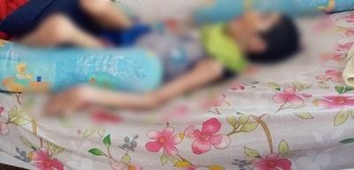 Roban balón de oxígeno de niño que padece parálisis infantil
