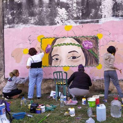 #NoLaBuscaron: pintaron un mural en memoria de Isaura Bogado