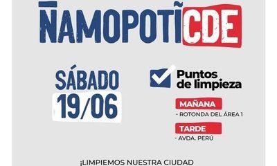"""Llevarán adelante campaña """"Ñamopotî CDE"""""""