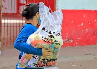 En cuatro días, MEC entregó más de 1.268.000 kilos de alimentos a instituciones educativas de Capital