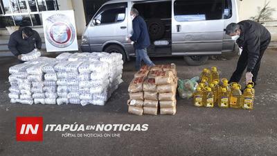 INTERCEPTAN TRANSPORTE DE CARGA DE AZÚCAR Y ACEITE INGRESADAS DE SUP. DE CONTRABANDO.