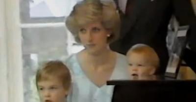 El tierno video de Lady Di, Harry y William rescatado por las redes sociales